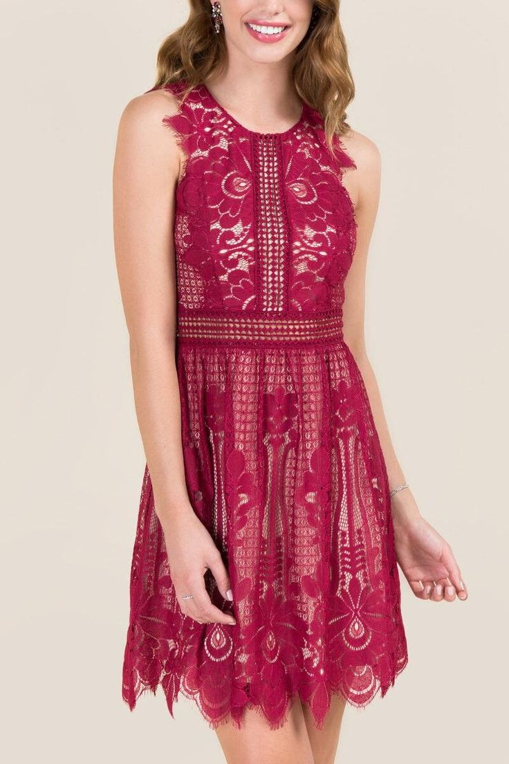 Kacee Crochet Lace Illusion Dress