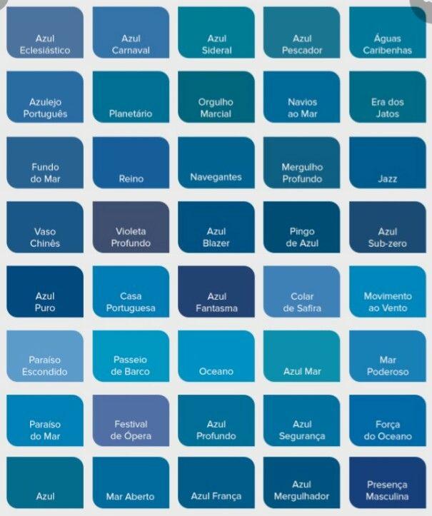 Pin De Galilea Rivas En C O L O U R S En 2020 Tipos De Azules Tonos De Azul Unas Azules