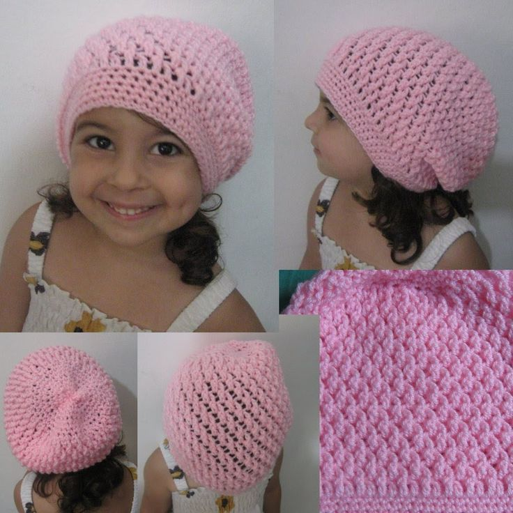 Crochet Hat - Squiggly Slouch Hat Tutorial (Toddler to ...
