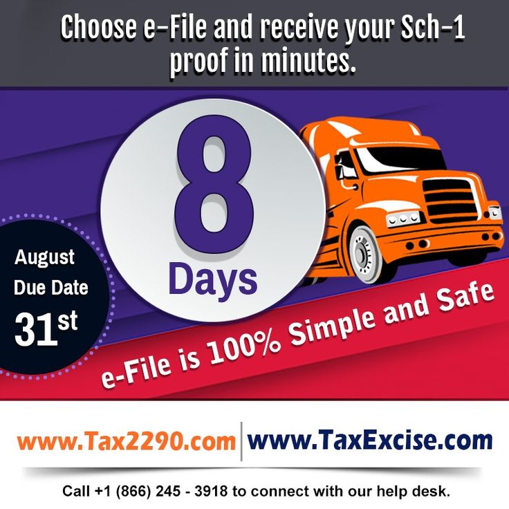 #Attention #Truckers & #TruckingCompanies we have #only8days officially left to meet our #HeavyHighwayVehicle Use #Tax #HVUT #Form2290 #deadline. #Efile is the only #fastestway to meet the #Duedate and to #Avoidlatefiling #penalties & #Interests.http://blog.tax2290.com/next-thursday-august-31st-2017-is-the-due-date-to-file-you-form-2290/