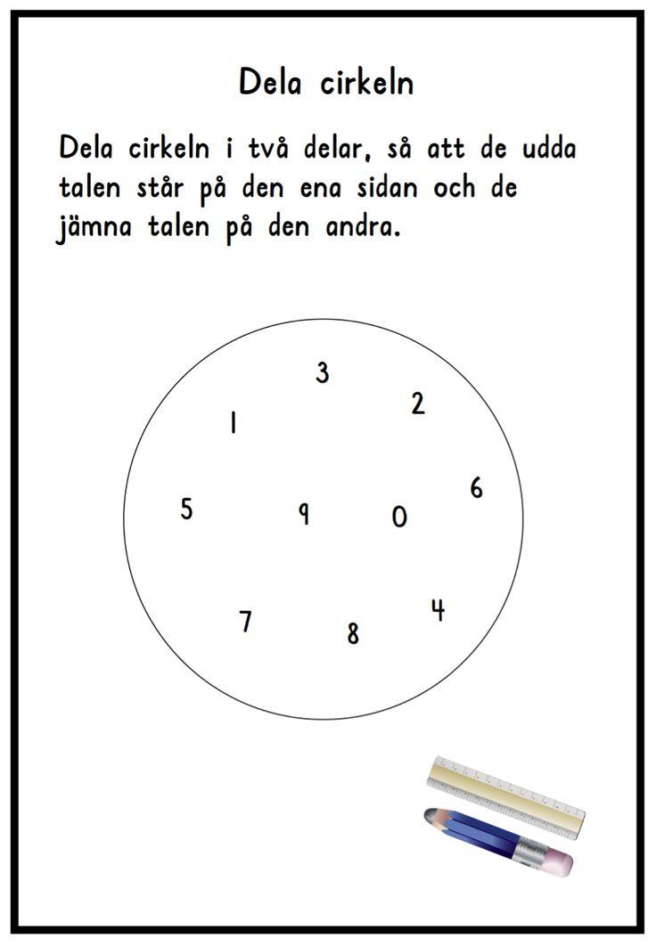 Udda och jämna tal dela cirkel (Word) Udda och jämna tal dela cirkel (PDF)