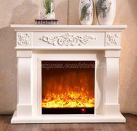 Salón de decoración y calentamiento W120cm chimenea chimenea de madera más relleno de la chimenea eléctrica LED óptico de la llama artificial