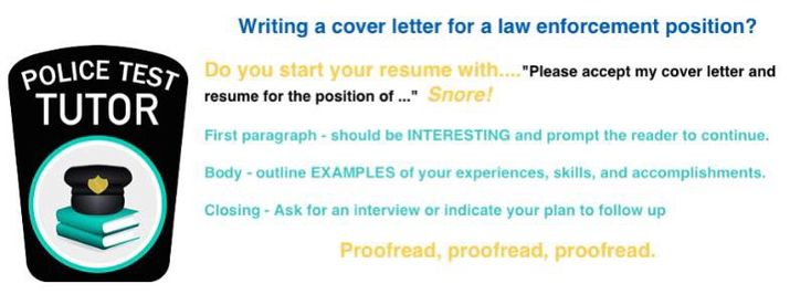 Resumes for police and law enforcement applicatns Resume Tips - resume for law enforcement