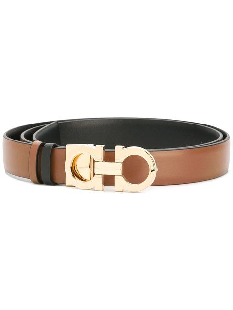 Shop Salvatore Ferragamo Gancio buckle belt.