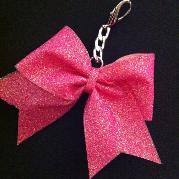 Hey, I found this really awesome Etsy listing at http://www.etsy.com/listing/127028298/glitter-cheer-bow-keychain