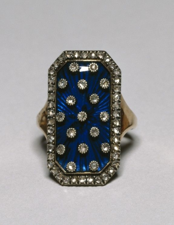 "~Diamond and enamel ""ring of the heavens"", European, late 18th C."