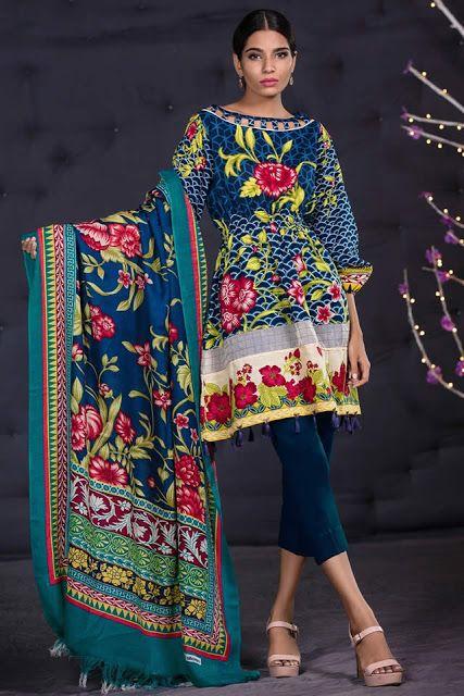 65af51b697 Fascinating Fashion: Alkaram Studio Winter 2018 Viscose Embroidery 3 Pi.