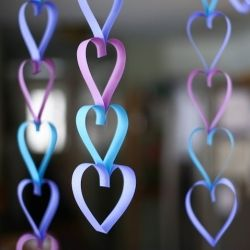 DIY Paper Heart Garlands - a sweet surprise for your loved ones this Valentine's Day