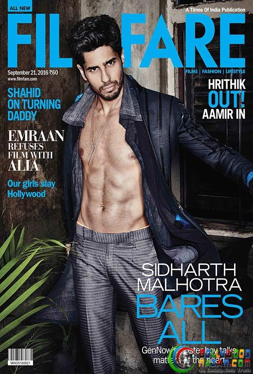 HOT AND FETCHING SIDHARTH MALHOTRA ON FILMFARE COVER  #Bollywoodnazar #SidharthMalhotra