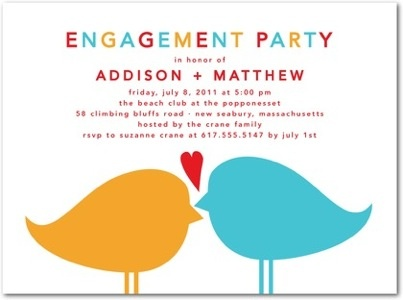 Forever Paired Engagement Party Invitation