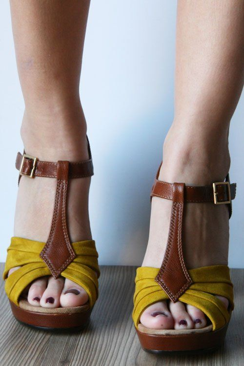 mustard and brown