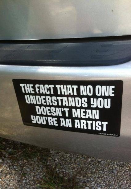 Artiste indeed.