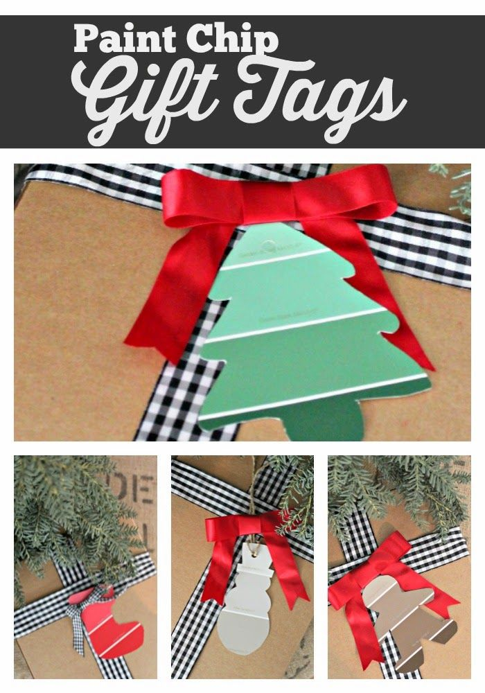 Paint Chip Gift Tags (with printable