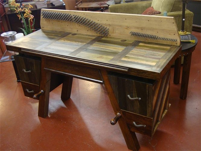 Piano Desk : This Desk Was Built Entirely From An Old Piano That Was  Destined For