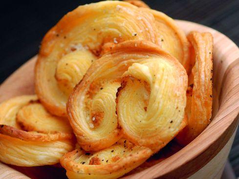 Palmiers au beurre de noisette et fromage