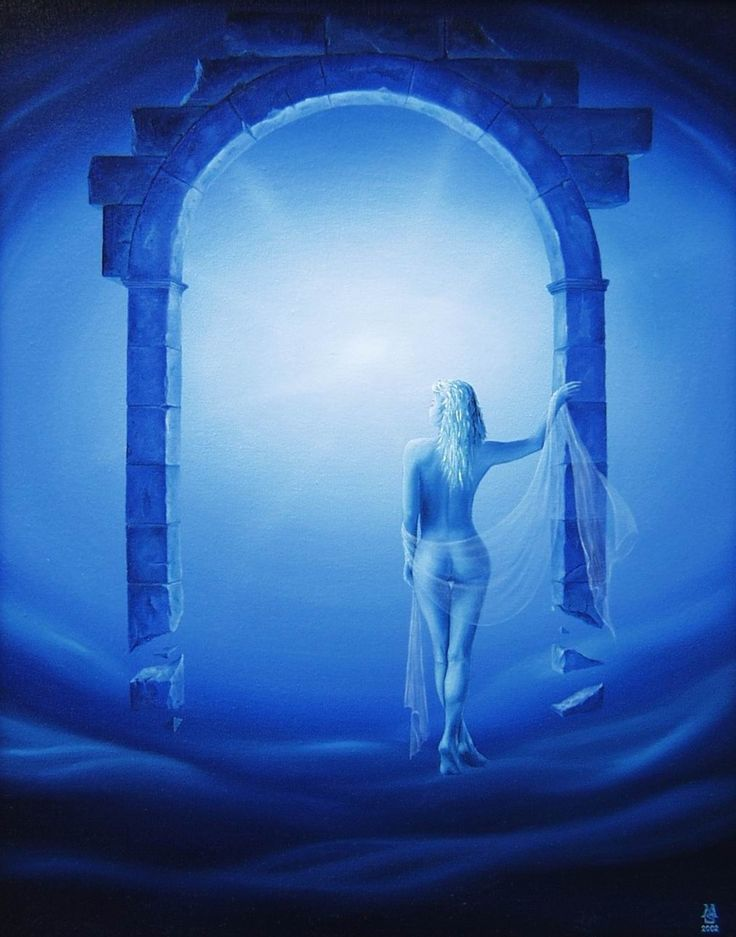 The gate of dreams / Brána Snů technique: oil on canvas / olej na plátrně