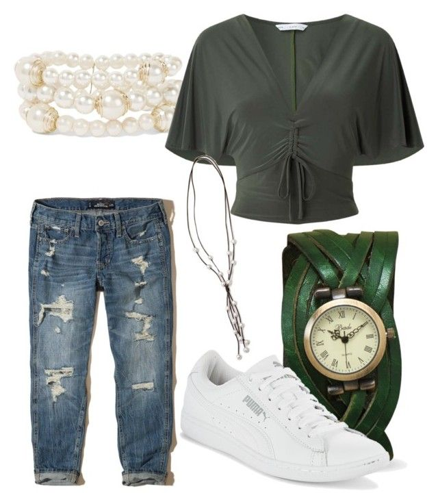 """Easy mom fashion option"" by krystina-moles on Polyvore featuring Hollister Co., Puma, Kenneth Jay Lane and Miss Selfridge"