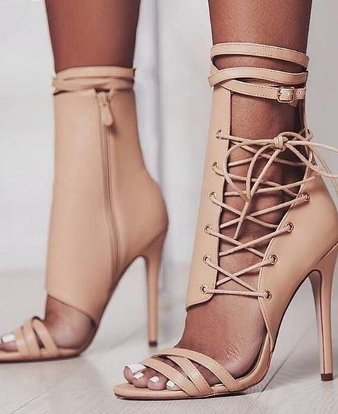 5ad89a3ce7c Lace Up Ankle Strap High Heels Party Sandal in 2019