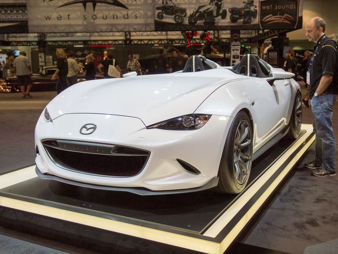 mazdas two mx 5 sema concepts are among the best in show
