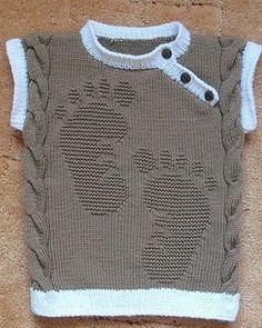 Узор спицами для украшения детского свитерка или пуловера. Схема вязания узора спицами есть!