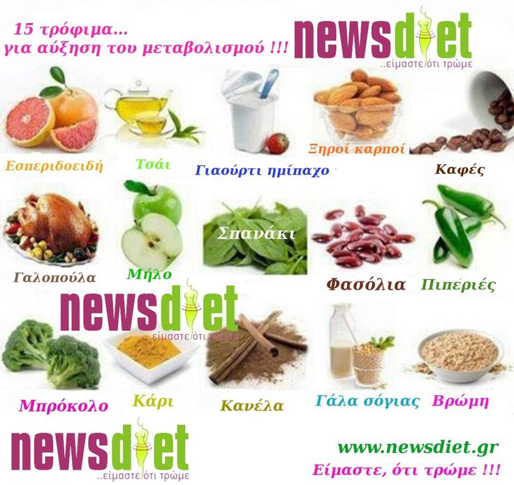 Foods boost metabolic rate