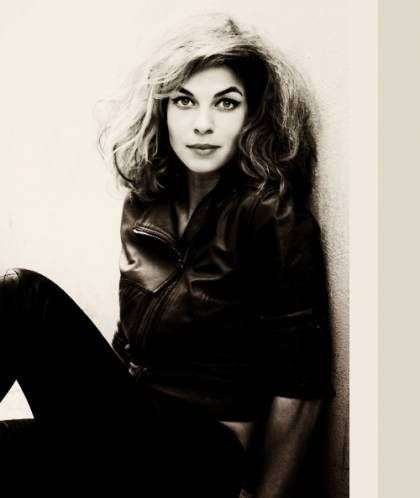 Natalia Tena in Black Leather Jacket