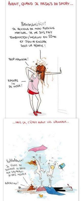le sport - illustratrice Nathalie Jomard