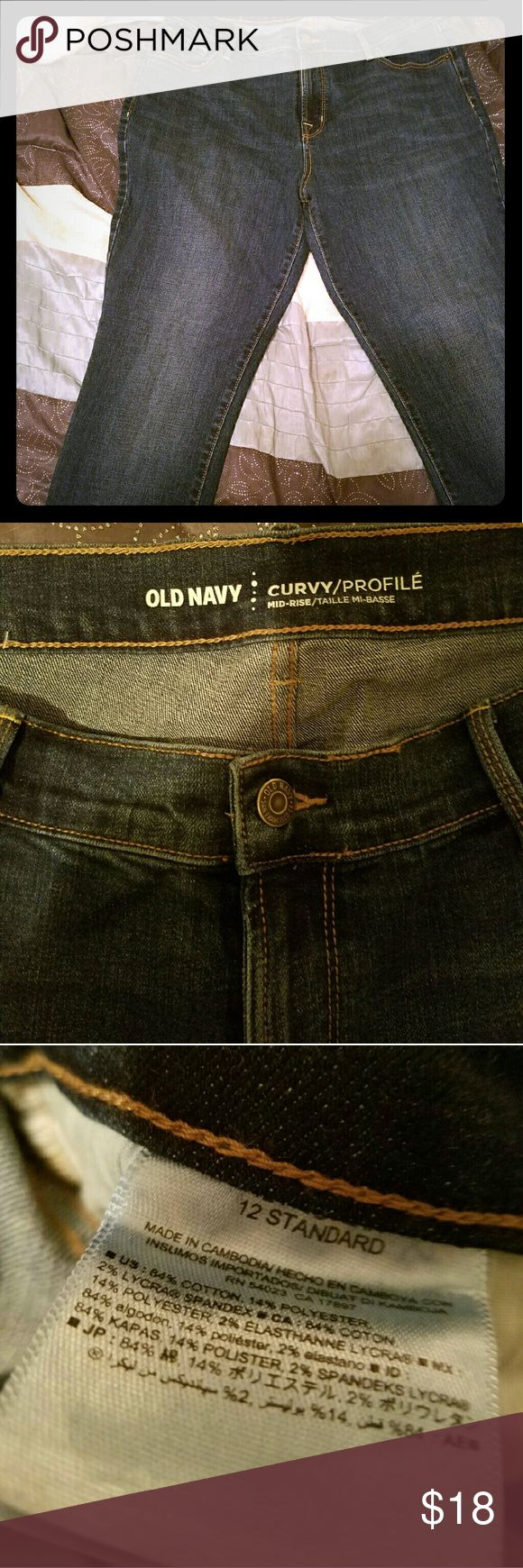 Women's Old Navy jeans size 12 NWOT Old Navy women's jeans size 12 slim fit. Medium to dark blue. Old Navy Jeans Skinny