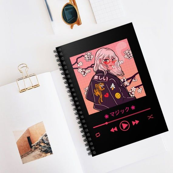 Anime Journal Notebook To Use For School Or For Your Everyday Use It Is The Perfect Gift For Yourself Friends And F Anime Decor Anime Book Sketchbook Cover