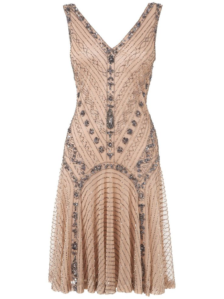 New style 1920s flapper dress UK: Phase Eight Gatsby beaded dress £225.00