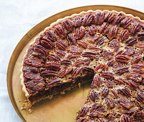 Pecan and Chocolate Tart with Bourbon Whipped Crème Fraîche | Recipe ...