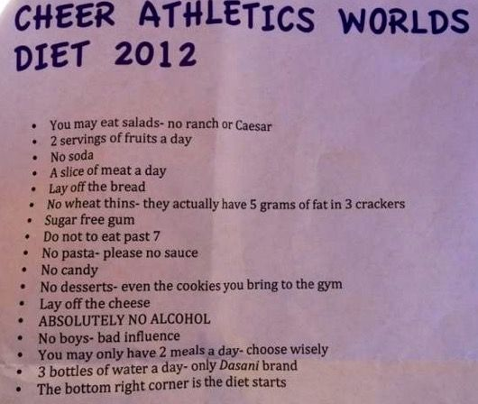 """the """"cheer diet"""""""