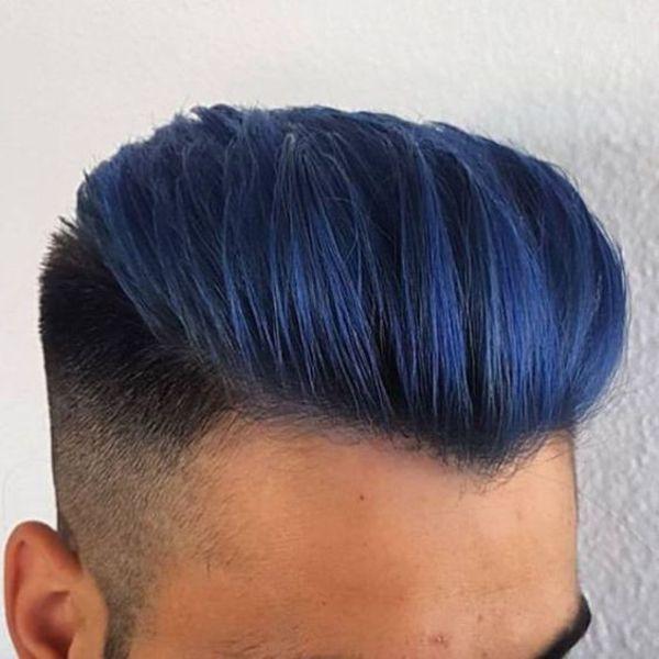 Blue Hair Men Hair Colors In 2020 Men Hair Color Mens Hair Colour Blue Hair Highlights