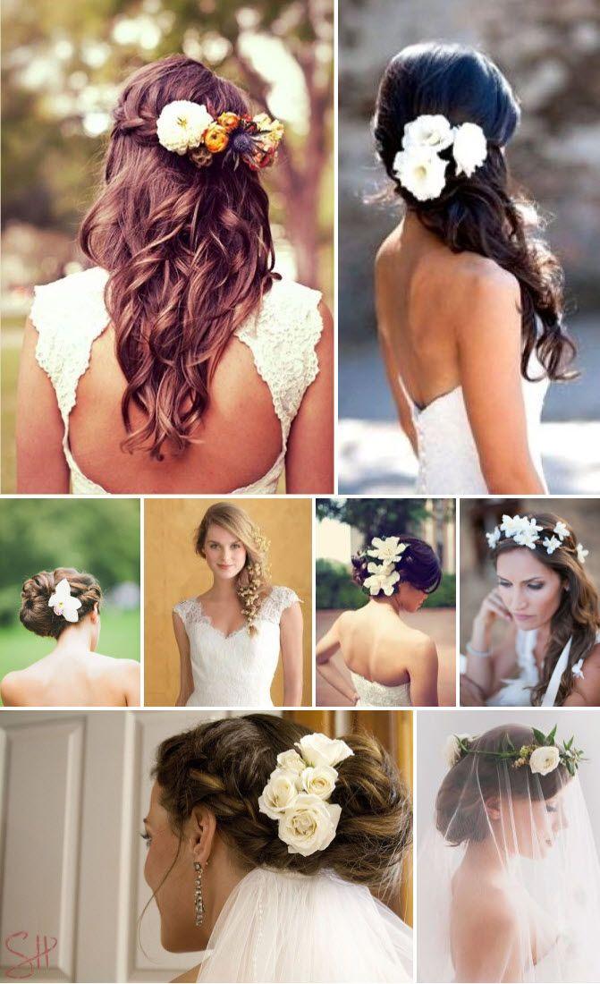Penteados com flores para noivas – Galeria de Sexta | Clube Noivas
