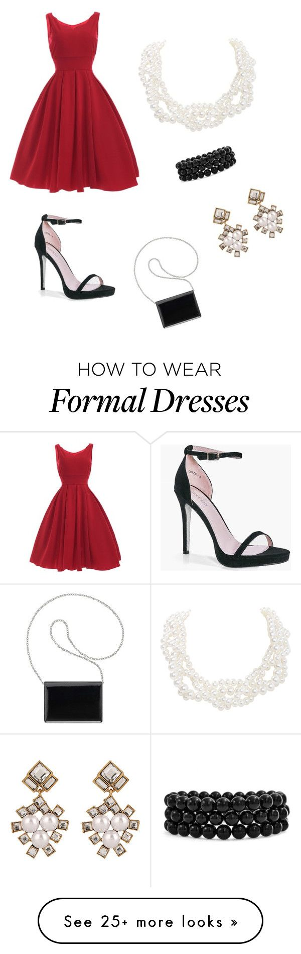 """""""Formal dinner"""" by thephink on Polyvore featuring Humble Chic, Boohoo, Nine West and Bling Jewelry"""