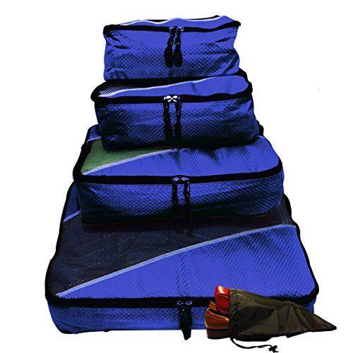 Evatex Packing Cubes   Travel Packing Cubes 4pc Eva-Navy Set With Free ♥ Shoe bags   Packing Cubes for Travel   Packing Cubes Organizer ♥   Multi-Purpose Use, Packing Cubes Large,  Travel Organizer Bags   Travel Organizer Cubes  Packing Cubes Small, Cosmetic Bag   Travel Makeup Bag   Toiletry Bag   Men Travel Toiletry Bag   Toiletry Bag For Men   Toiletry Bag For Women   Toiletry Bag For Kids   Makeup Bag ...