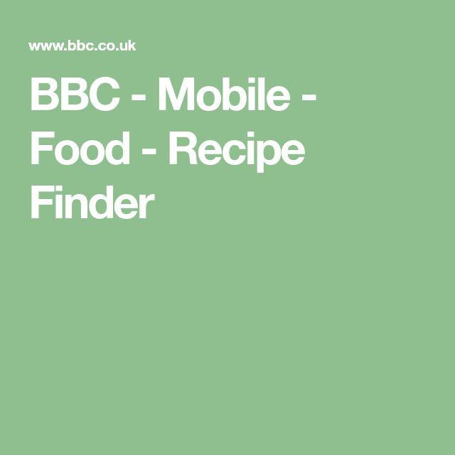 BBC - Mobile - Food - Recipe Finder