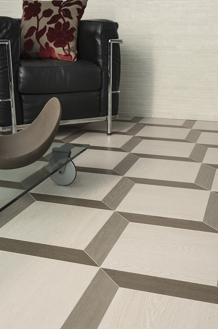 Floor tiles decoration effect with WABI #gres  imitating #wood by Ceramiche Caesar