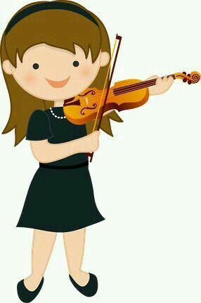 Minus niña tocando violín (músical)