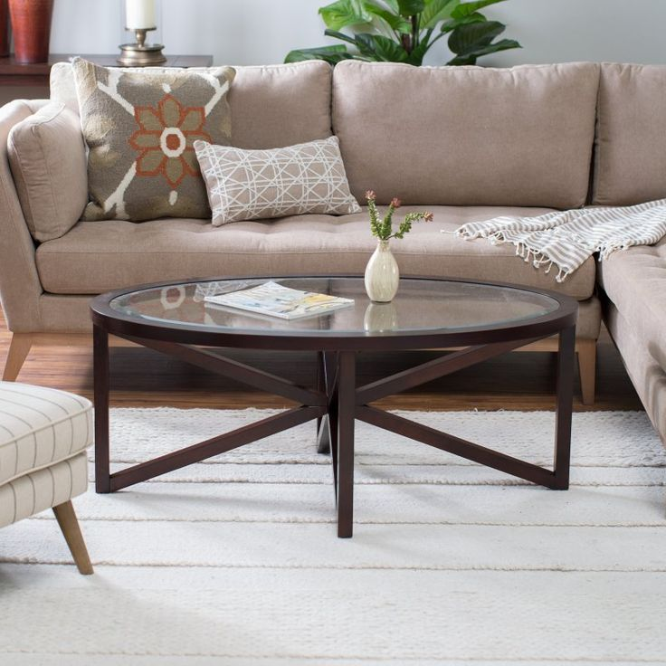 Webster Oval Coffee Table   Add Visual Intrigue To Your Living Room Decor  Plus Have A Handy Place To Set Your Coffee Mug With The Webster Oval Coffee  Table.