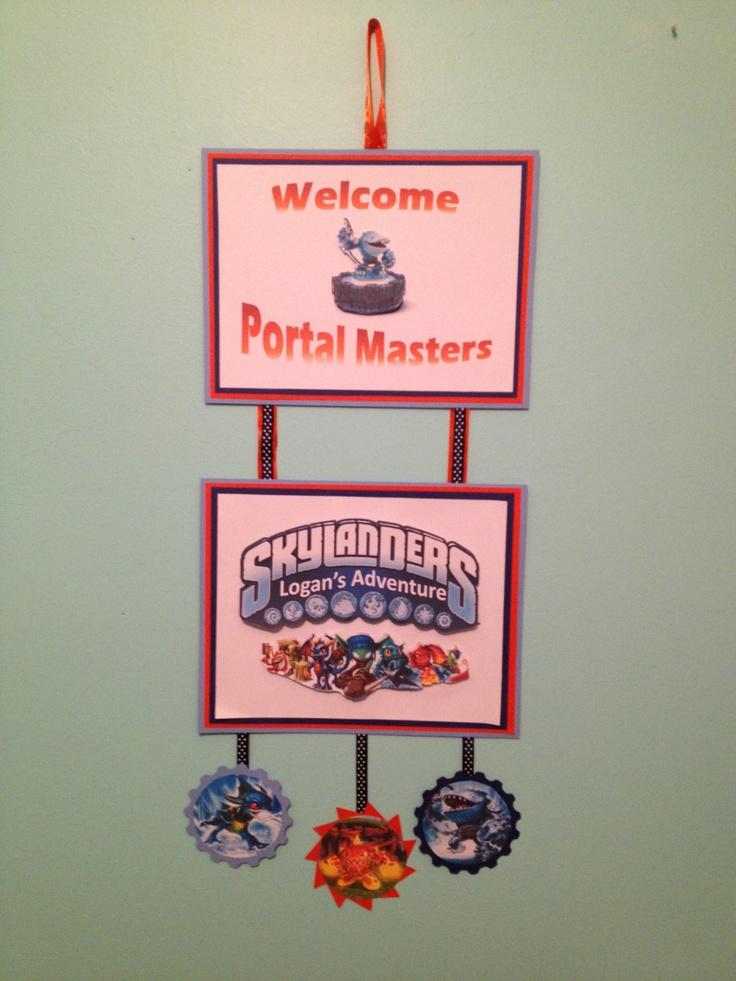 Skylanders Welcome Birthday Party Sign