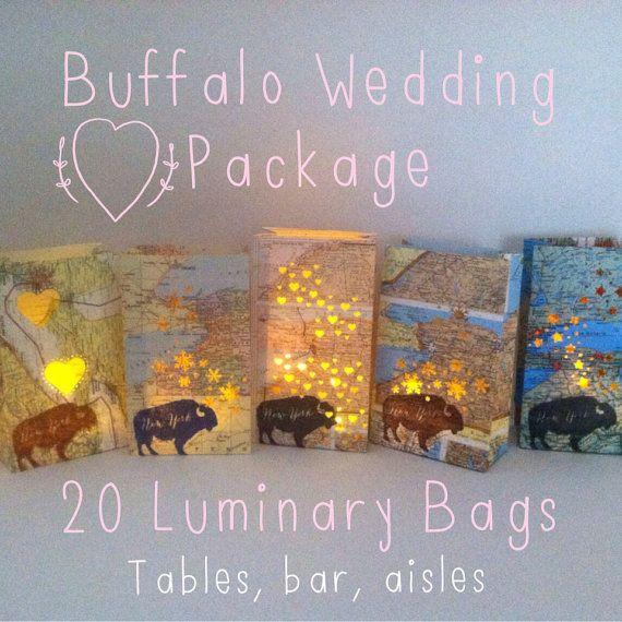 Buffalo Wedding 20 Luminaries Buffalo NY Buffalo by Oldendesigns