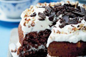Rugbrødslagkage med chokolade
