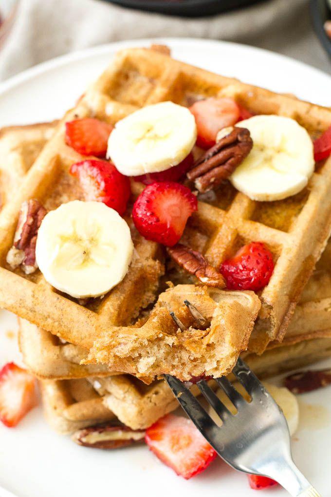 Light & Crisp Flourless Oatmeal Waffles | Recipe | Oatmeal ...