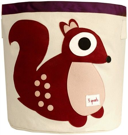 Squirrel Canvas Storage Bin by 3 Sprouts - RosenberryRooms.com