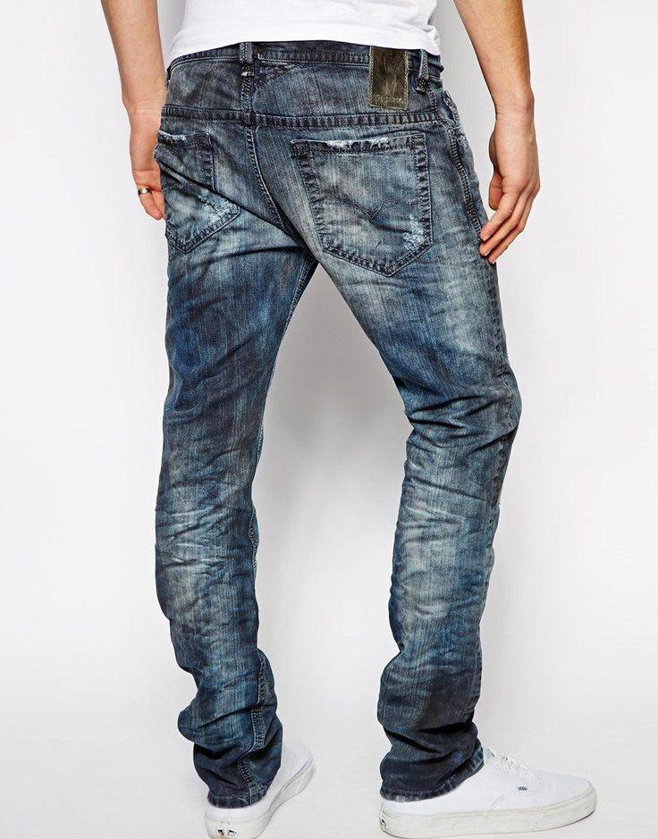 Diesel   Diesel Jeans Thavar 829b Slim Fit at ASOS