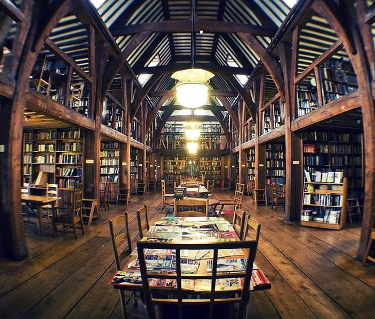 The Bedales Memorial Library, Steep UK, designed by Ernest Gimson #libraries
