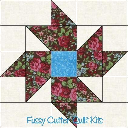 Quilt Patterns With Floral Fabric : Scrappy Fabric Pinwheel Flowers Floral Easy Pre-Cut Quilt Blocks Top Kit quilts, tutorials and ...