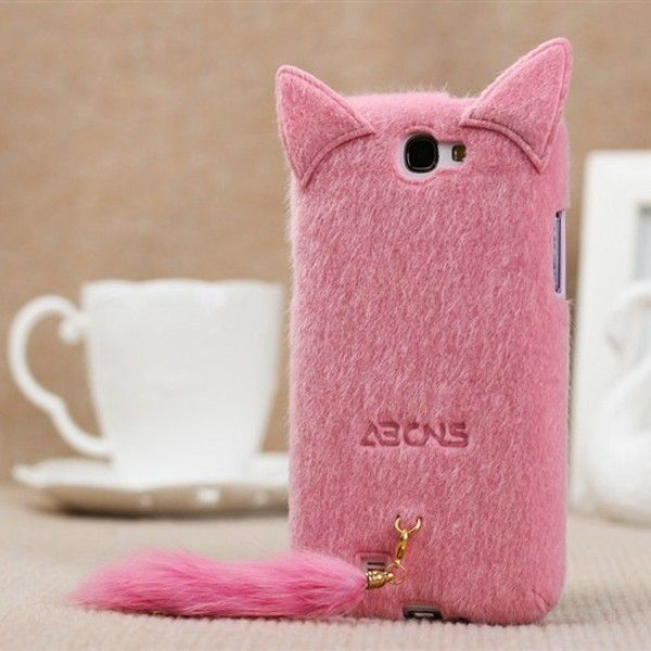 Superior Cute 3D Cat Soft Skin Case with Tail for iPhone 4/4S/5, Samsung i9100/i9220/i9300