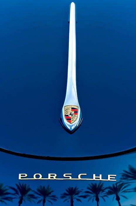 Porsche 1600 Super Hood Emblem - Car Images by Jill Reger